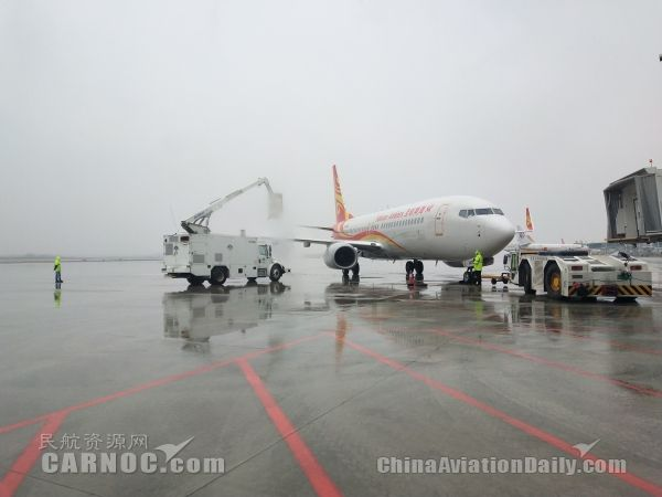 武汉天河机场打响除冰雪保畅通攻坚战