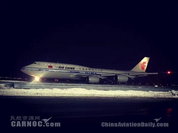北美暴雪彻骨寒 国航服务真情暖