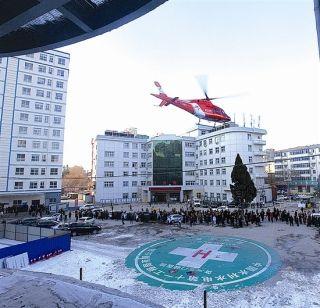 三门峡女婴病情危重 直升机转运至西安救治
