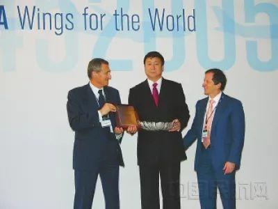 2005年5月30日,国际航空运输协会理事会向杨元元授予了世界航空领导奖。