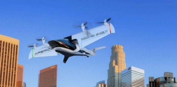 AirSpaceX展示无人电动空中出租车模型