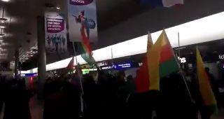视频:汉诺威机场发生暴乱 致使两人受伤