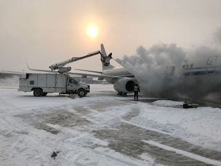 Ameco天津分公司从容应战今冬第一场雪