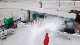 -25℃!无人机记录沈阳极寒天如何