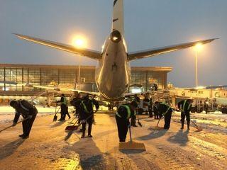 常州机场全力保障冰雪天气旅客顺畅出行