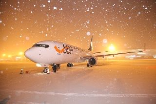 山航雪中迎来今年首架新飞机 机队规模达112架