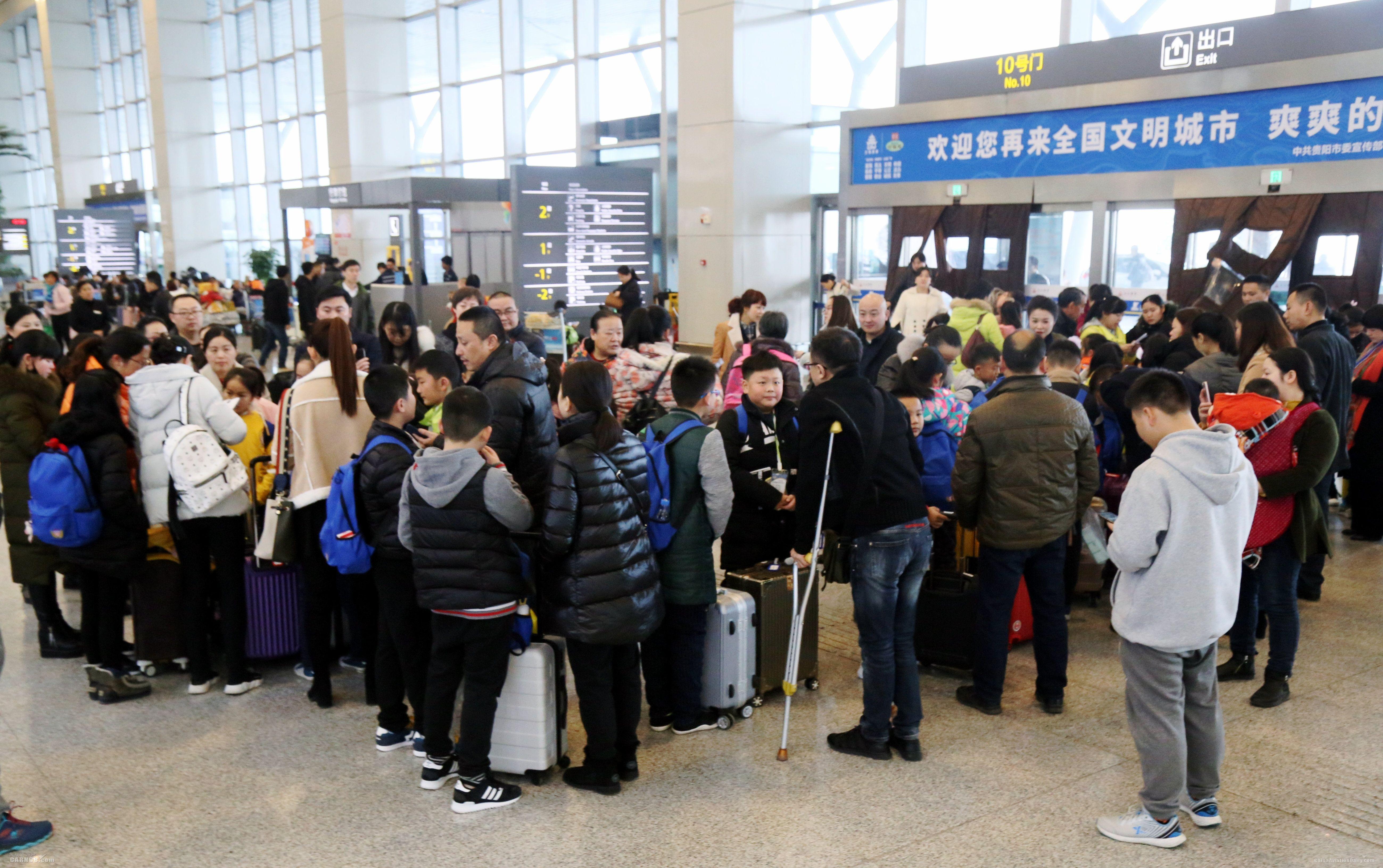 春运一周  南航贵阳进出港旅客7.6万人次