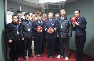 中国联航河北分公司领导春节迎接慰问机组