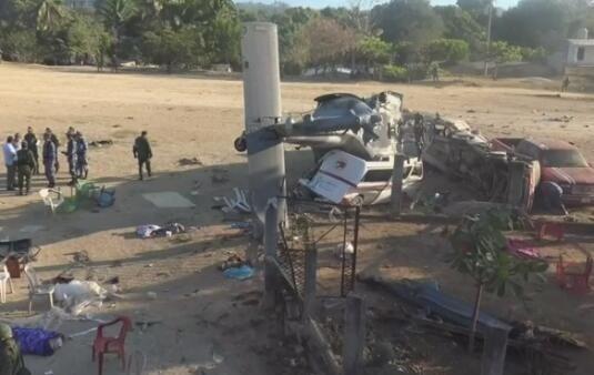 墨西哥强震无人伤亡 官员乘坐直升机坠毁致14死