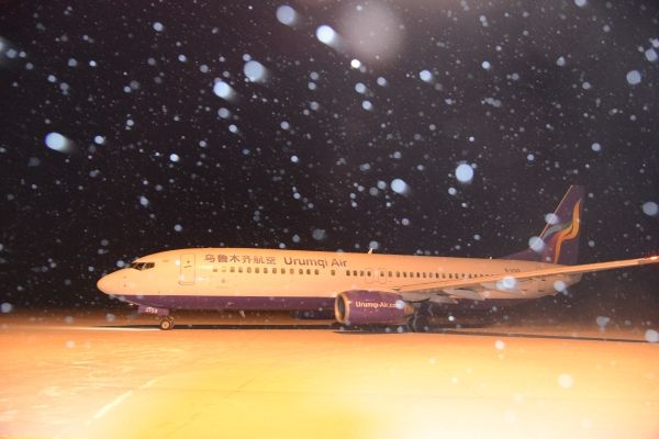 乌鲁木齐航空新年首次飞行训练 富蕴机场保障有力
