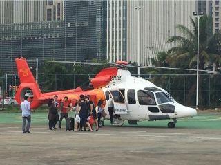 海口-徐闻直升机航线全力以赴 缓解滞留人群