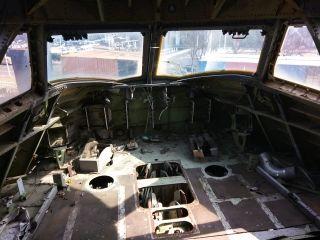 位于浦东飞行家主题公园MSN19661驾驶舱已被拆卸一空