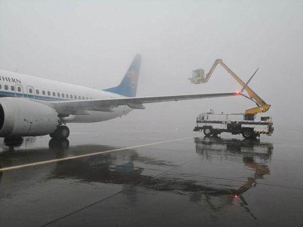 冻雾袭城 南航新疆积极保障旅客出行