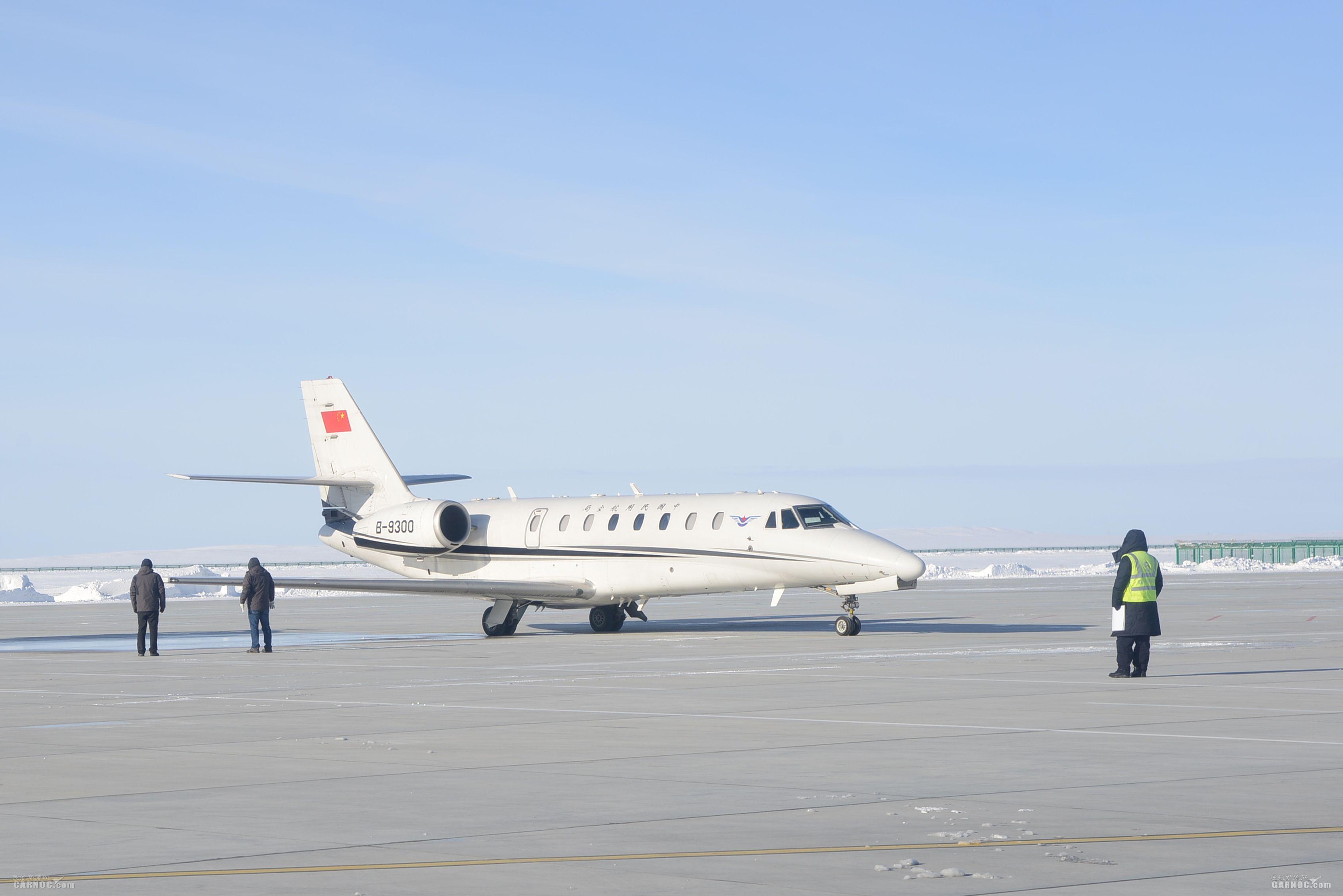 富蕴机场保障高效顺利完成2018年首次校飞保障