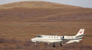 阿鲁科尔沁机场首次校飞成功 预计6月通航
