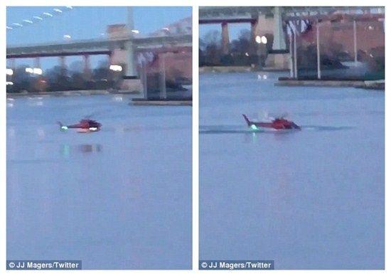 引擎失灵!纽约坠河直升机求救电话录音曝光