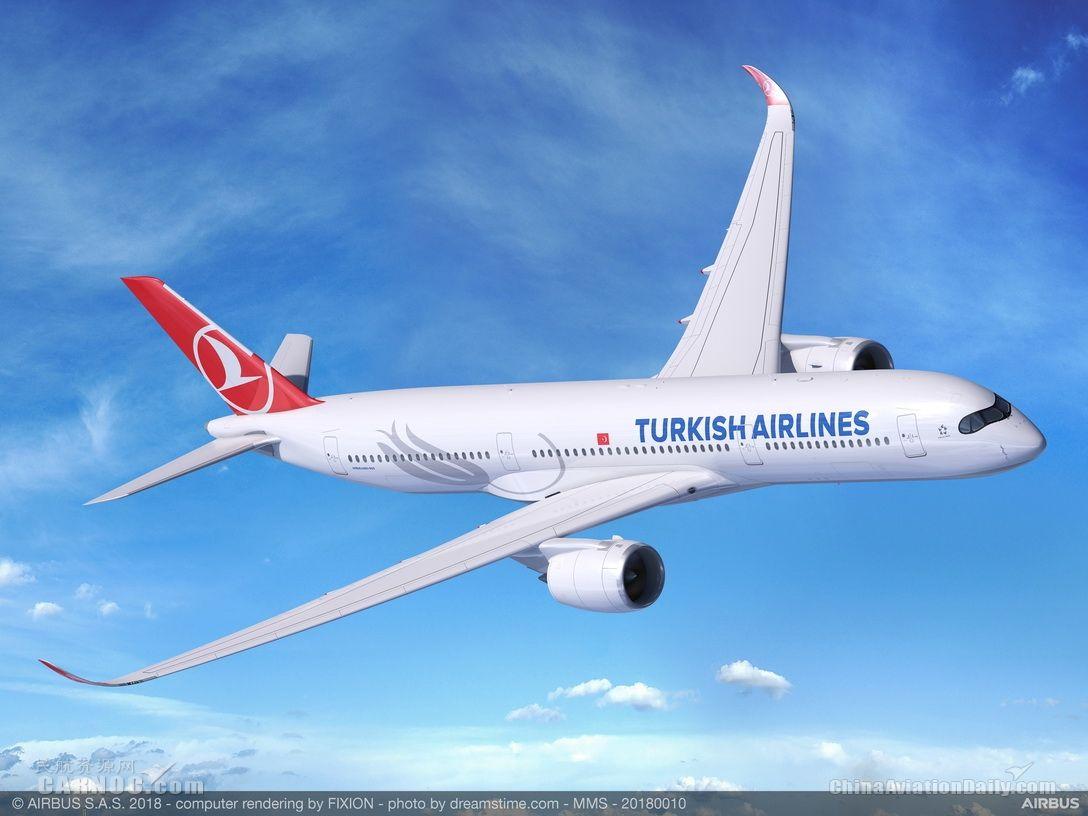 土耳其航空确认订购25架空客A350-900飞机