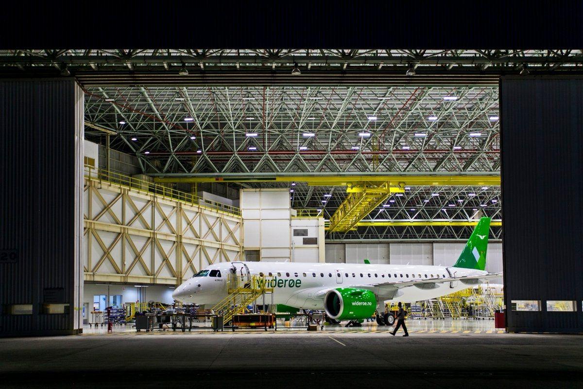 身披威德罗航空涂装  首架巴航E190-E2交付在即