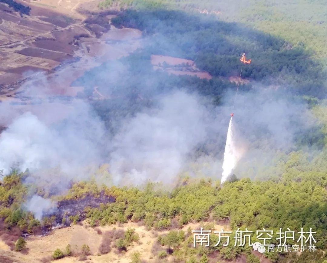K-MAX直升机转场归建途中处置一起森林火情