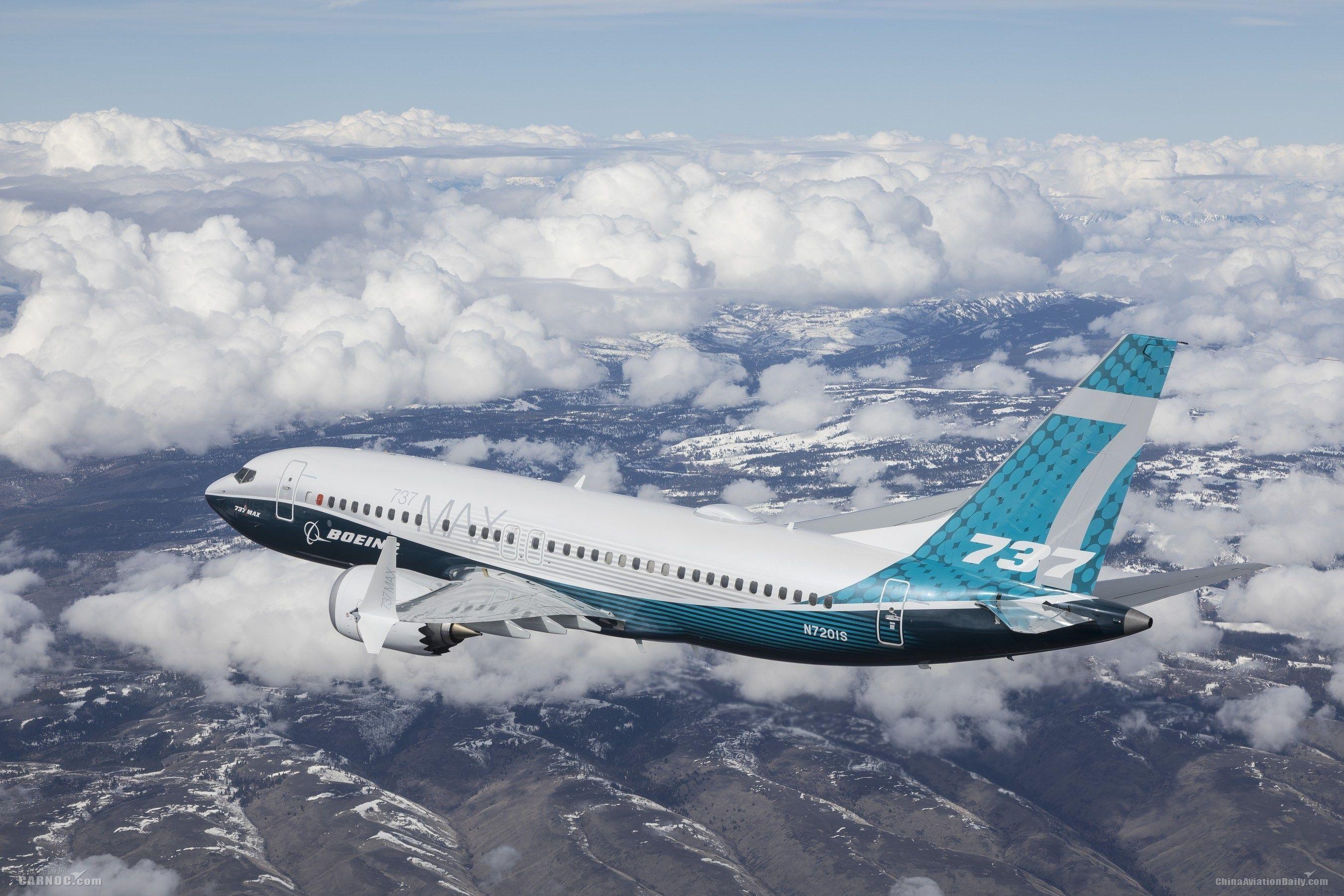 波音737 MAX 7完成首飞 预计2019年开始交付