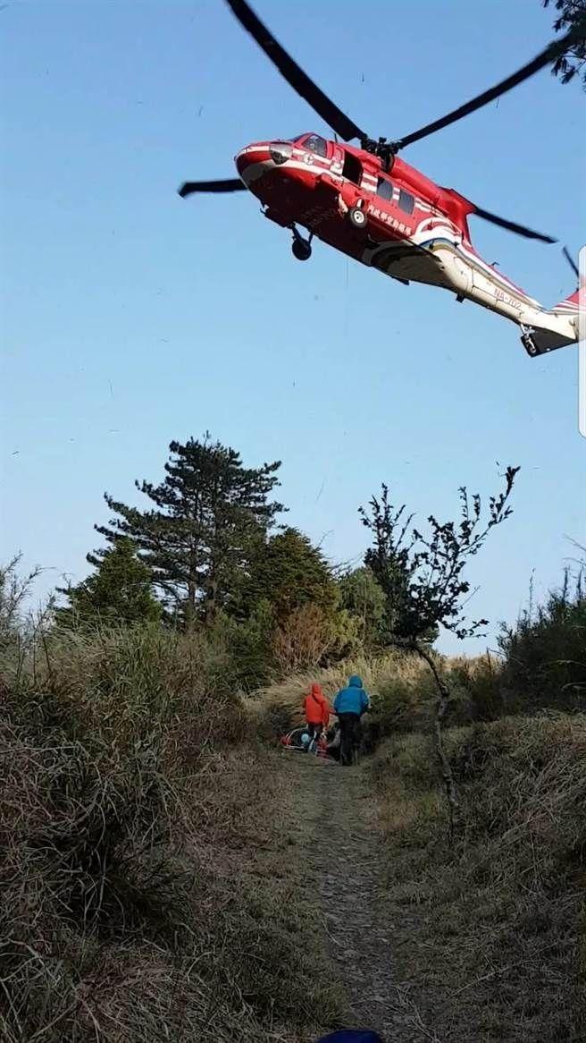 山友登大霸尖山不慎滑落受伤 直升机出动救援