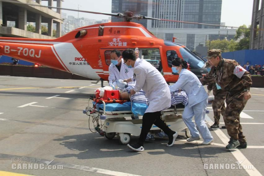 全国首例!金汇通航直升机参与转运现役军人