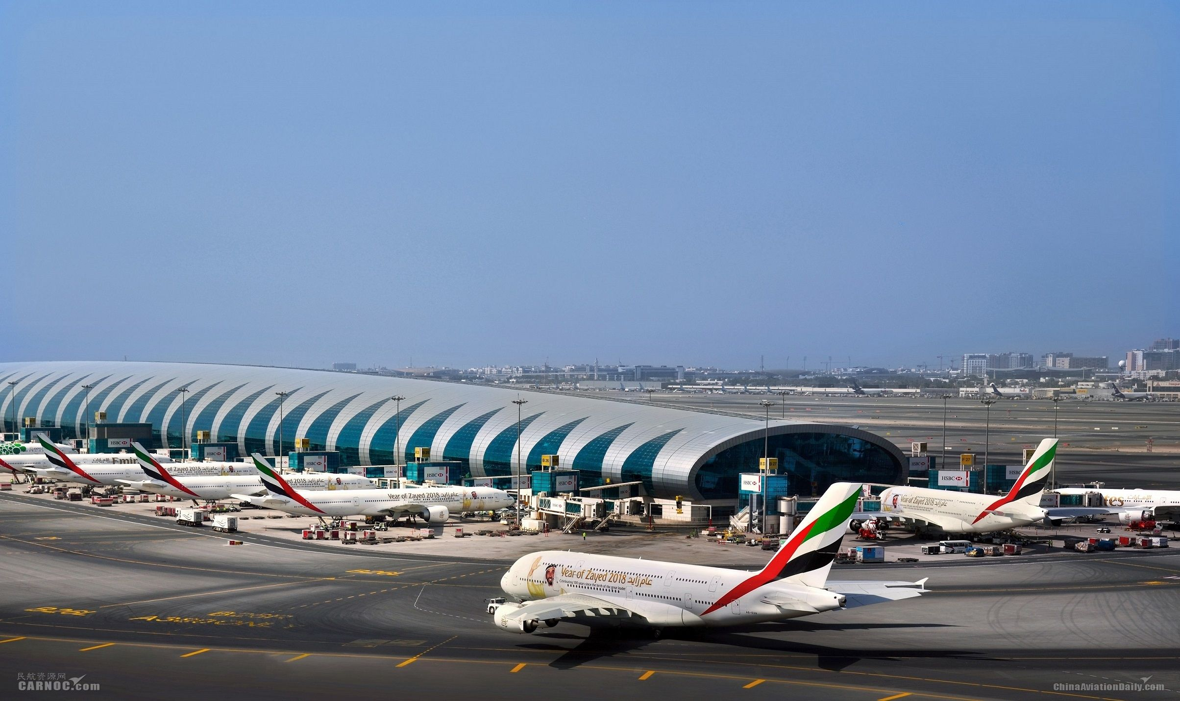 """阿联酋航空打造""""扎耶德纪念年""""特殊涂装客机机队"""
