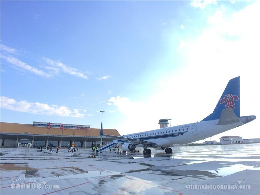 富蕴机场高效保障2018年度首架夏季执飞航班