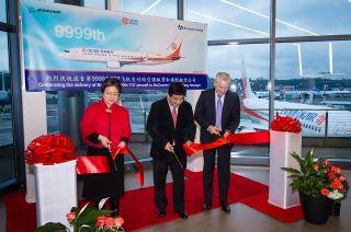 奥凯航空成功接收波音第9999架737飞机