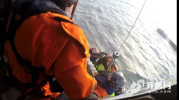 船员骨折亟需治疗 直击直升机紧急救援瞬间