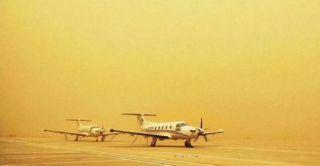 锡林浩特机场积极应对极端扬尘天气