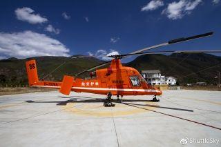 可惜当天两架K-MAX直升机没有执行飞行任务,只能在机坪上观摩一番喽!