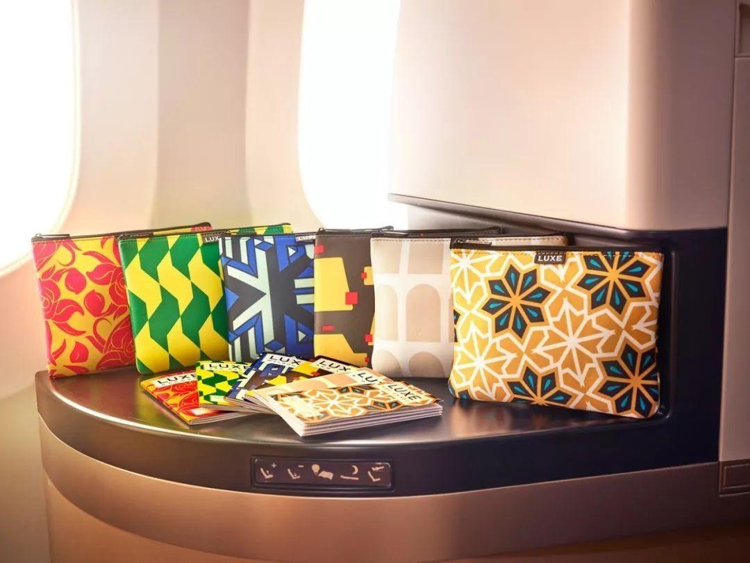 阿提哈德航空精美的洗漱包。如果在机上出售,相信一定是抢手货