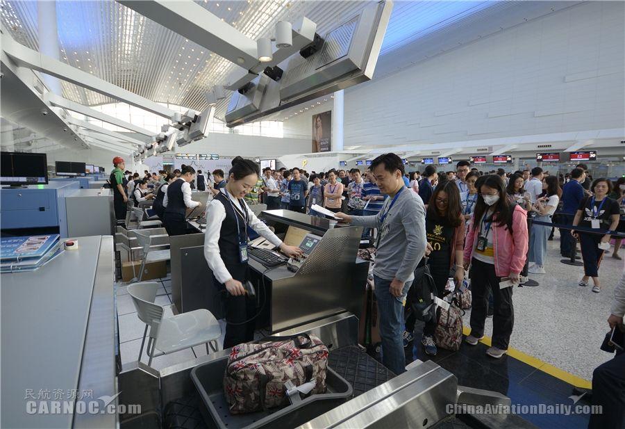 白云机场举行2号航站楼启用前大规模运行演练
