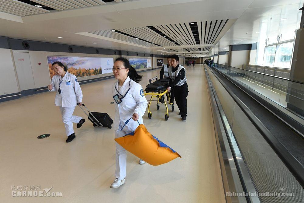 哈尔滨机场举行T2航站楼转场最后一次实战演练