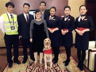 中国联航保障携导盲犬旅客顺利乘机