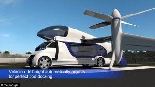 最新飞行汽车 吊舱设计将地面与空中交通二合一