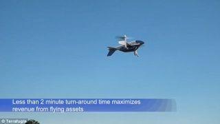 TF-2在降落并释放吊舱之后,可以在两分钟内携带另外一个吊舱再次腾空而起。