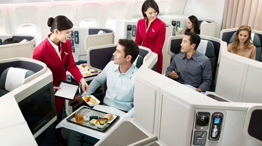 """国泰航空推出""""餐厅式""""商务舱餐食服务"""