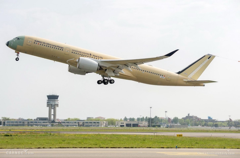 超远程型空客A350XWB宽体飞机完成首飞