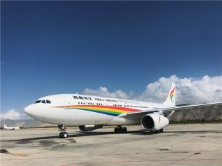 西藏航空迎来第五架空客A330宽体客机