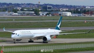 国泰航空首架A350-1000完成首次引擎运行