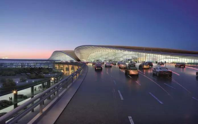 北京新机场(效果图)。图/受访者提供
