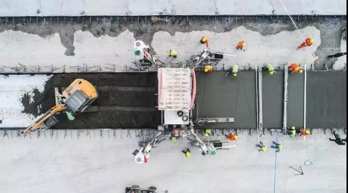 建设中的北京新机场。图/受访者提供