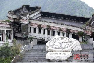 汶川地震十年 航拍映秀镇
