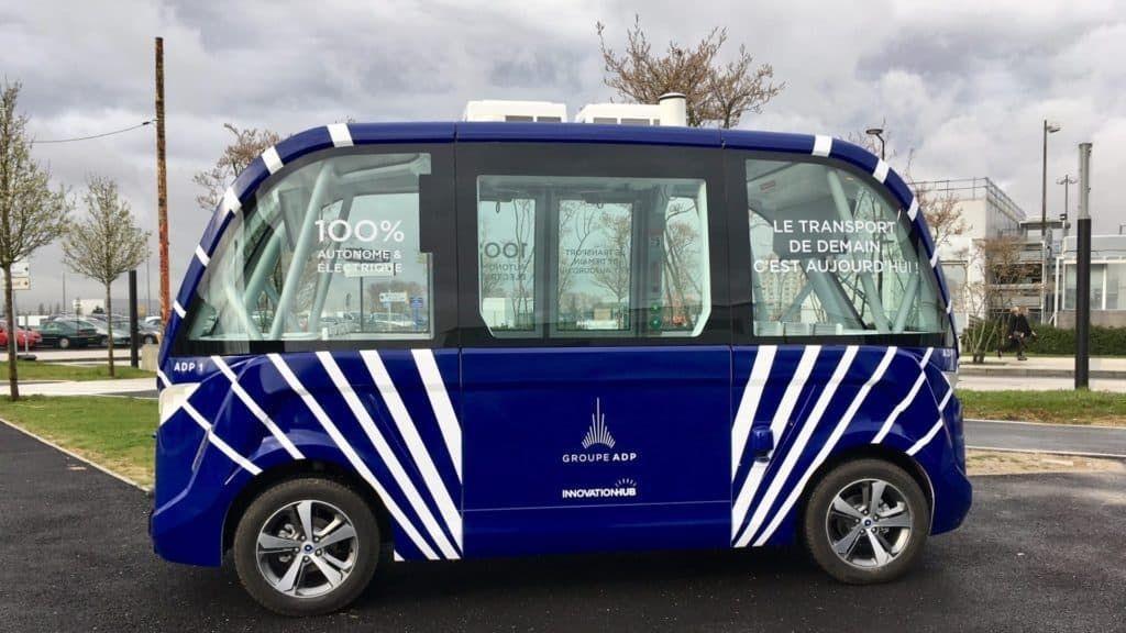 戴高乐机场无人驾驶公车