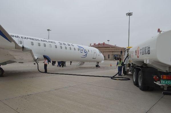 中国航油阿拉善左旗完成新航线供油保障