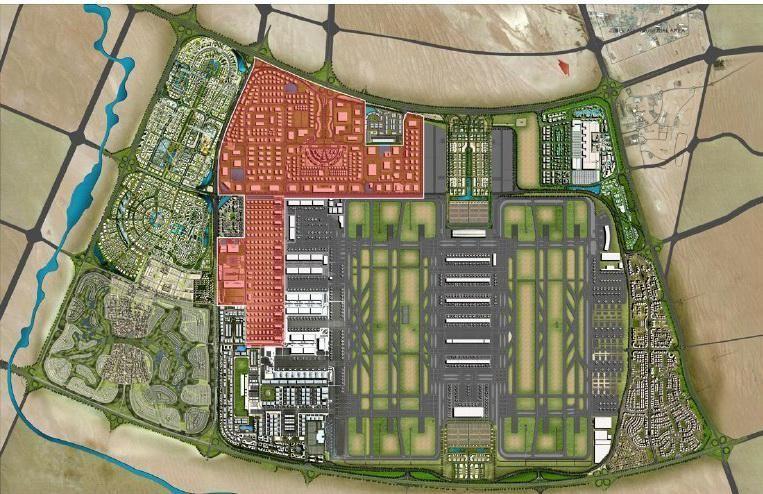 迪拜世界中心机场卫星图