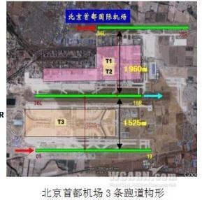 北京首都机场三条宽距跑道