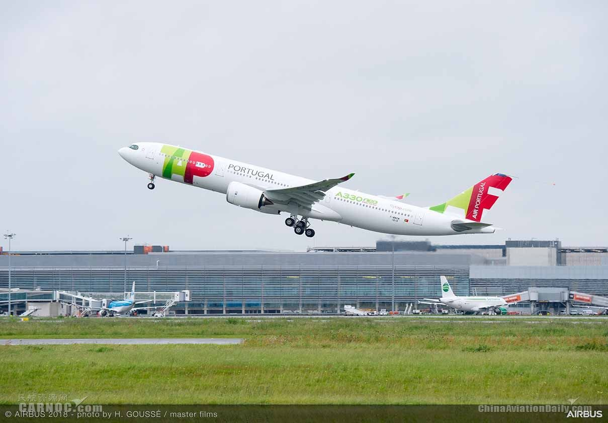 TAP葡萄牙航空首架A330neo飞机完成首飞